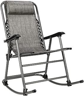 Issavara Chair Zero Gravity Rocking Folding Patio Porch Outdoor Rocker Heavy Duty Outdoor Beach