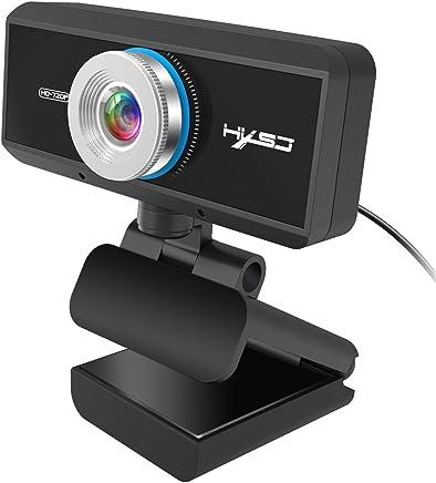 GT Webcam HD 720P - Obiettivo di Vetro Ultra Grandangolare USB Plug And Play Webcam, Microfono Incorporato, Clip Girevole Flessibile, Videochiamata E Registrazione Widescreen per PC, Laptop E Desktop - Trova i prezzi più bassi