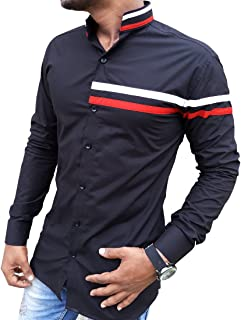 S.N. Casual Shirts for Men Mens Cotton Shirts | Black Colour Shirts Look Shirts for Men | Slim fit Shirts