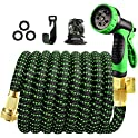 100ft Expandable Garden Water Hose with 10 Function Spray Nozzle