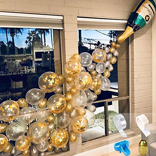 Champagne Bottle Balloons Party Decorations,Confetti Birthday Balloon Arch for Birthday Decorations,Engagement Decorations,Christmas,Wedding,Graduation Balloons