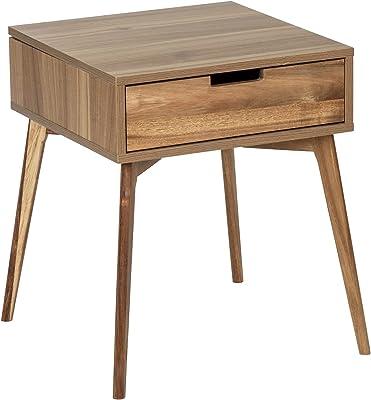 WENKO Table d'appoint, Bois, Marron, 50 x 55 x 50 cm