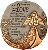 Spoontiques - Garden Décor - Bronze Angel Stepping Stone - Decorative Stone for Garden