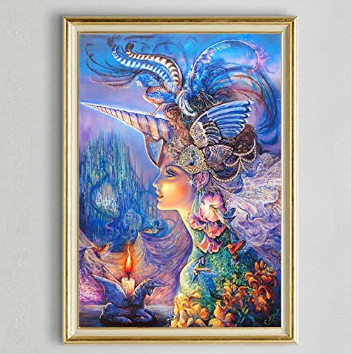 RayMoon DIY Handmade Full Drill Diamond Painting Set Fancy Little Fawn Resin Resin Rhinestone Pasted Cross Stitch for Home Decoration 50*70cm