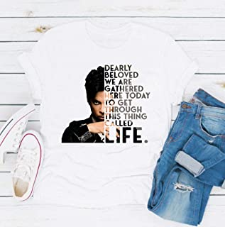 Vintage Prince Rogers Nelson Unisex T-shirt-Dearly Beloved We are Gathered Here Today T-Shirt -Long Sleeve-hoodie- Tank Top-TS58 gift for men woman