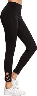SweatyRocks Women's Cutout Leggings Skinny Yoga Pants Runing Jogger Active Tight