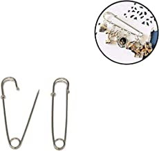Trimming Shop Large Safety Pins Stainless Steel XL Safety pin Strong Heavy Duty for Crafts, Laundry Bag, Blankets, Curtains, Jewellery, Costume, 55mm, Single