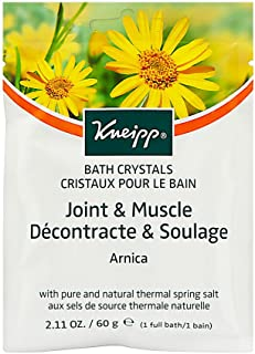 Kneipp Mineral Bath Salt, Joint and Muscle, Arnica, 2.1 oz.