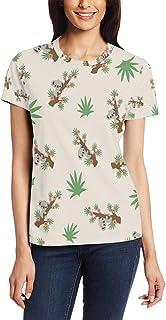 T-shirt voor vrouwen meisjes boom koala dier aangepaste korte mouw