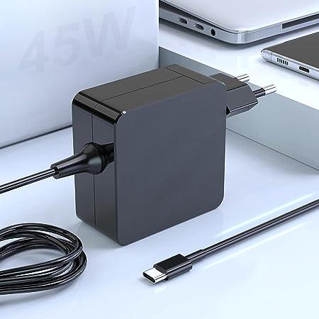 45W USB C Cargador Adaptador portátil Tipo Compatible con MacBook Pro, Mac Book Pro Cargador portátil PD para Switch, Samsung, Lenovo, HP, DELL, ASUS, Acer, Huawei, Xiaomi y más Dispositivos Tipo C
