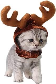 Dogs Cat Reindeer Headband Cap for Cat Xmas Costume Hair Decor Pet Elk Antlers Cute Hats Puppy Deer Horns Caps Headdress