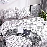 ARYURBU Juego de ropa de cama de 2 piezas, funda nórdica de 155 x 220 cm y funda de almohada de 80 x 80 cm, cama individual, reversible, funda de edredón cómoda para mujer, hombre, niña