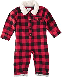 Mens Buffalo Check Long Sleeve One-Piece Playwear (Infant)