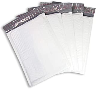 """MADISHAN #DVD 7.25"""" x 9.75"""" Poly Bubble Mailers White Self Seal Padded Shipping Envelopes Bags Total Pack of 500 Envelopes"""