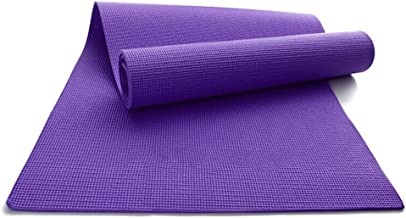 Breathable Yoga mat, Non-Slip PVC Portable Sports Fitness Outdoor Men and Women pad 6mm, Floor Exercise (Color : Purple)
