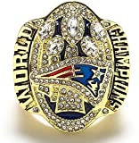 2016 Patriot Championship Ring Replica, Super Bowl Championship Ring Set For Fans Collection Gift Display Keepsake - Coleccionable 10#, lsxysp