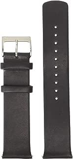 Skagen Men's 21mm LeatherWatch Band, Color: Black (Model: SKB6019)