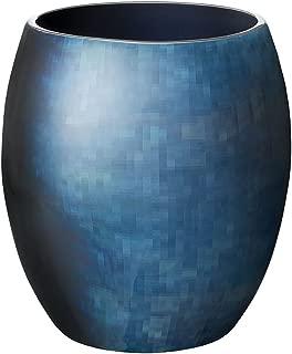 Stelton Stockholm vase, Large Horizon, Aluminum Blue, 25.5 x 25.5 x 26 cm