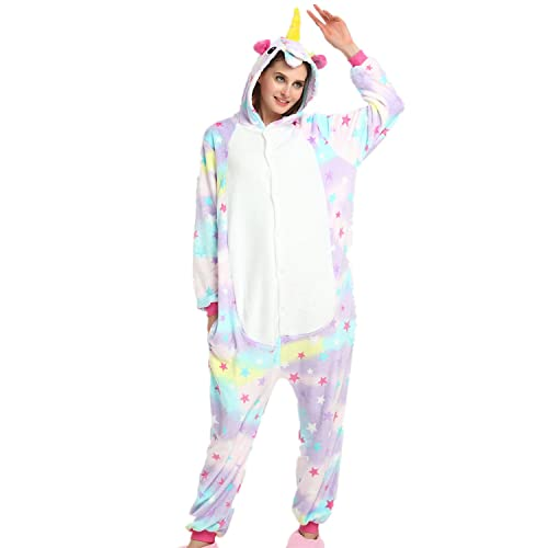 a78a715cbf JYSPORT Unicorn Pyjamas Unisex Fleece hooded pajama For children