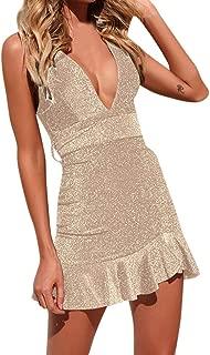 BOOB-88 Womens Dresses, Women Off Shoulder High Bodycon Dress Sleeveless Dresses