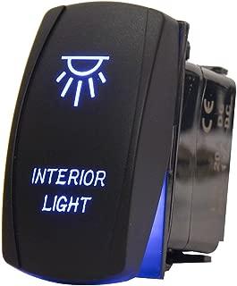 MicTuning LS083101JL Backlit Rocker Switch Kit for Vehicle Boat Marine, On/Off, Interior, 20A 12V LED Light, Blue