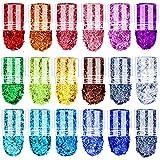 BEIJITA Fine Glitter Holographic Nail Glitter,18 Colors Cosmetic Glitters Craft Powder for Making...
