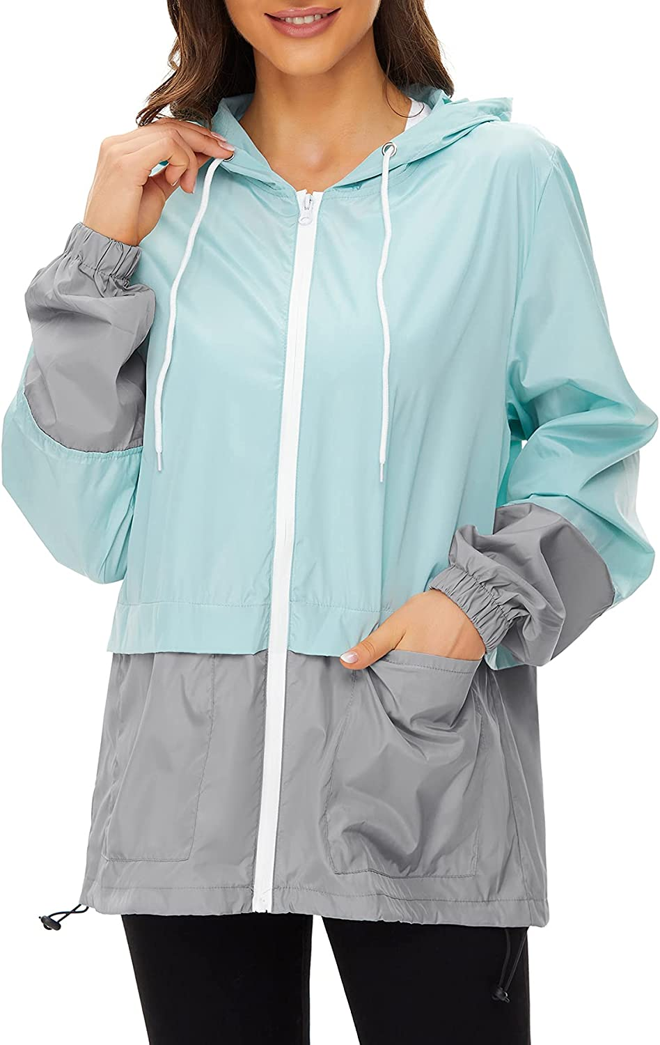 Zando Ranking TOP8 Lightweight Rain Jacket Special price for a limited time Women Raincoats Adult for Packable
