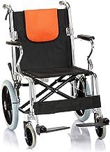 Zhi BEI Wheelchair,Manual Wheelchair Reinforced Aluminum Alloy Foldable Folding Back Light for The Elderly Disabled  