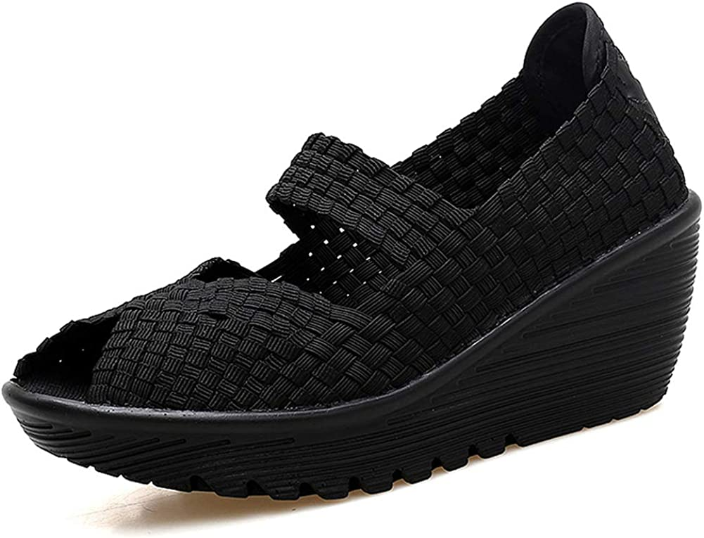 HKR Womens Sales of SALE Safety and trust items from new works Wedge Platform Sandals Comfortable