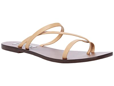 Steve Madden Janessa Flat Sandal (Tan Leather) Women