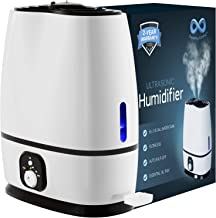 Everlasting Comfort Humidifiers for Bedroom (6L) with Essential Oil Tray (White)