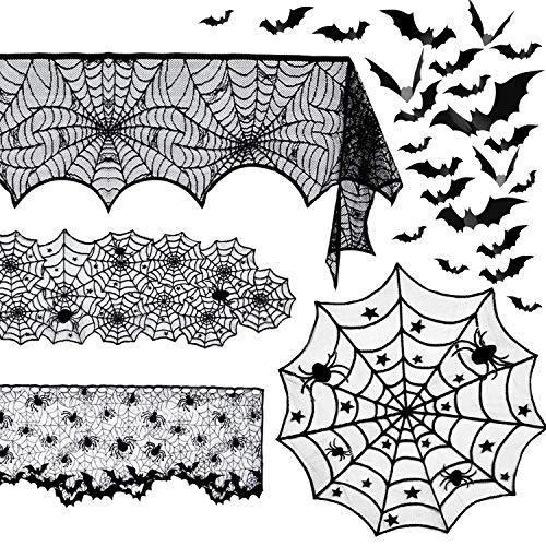 5 Pack Halloween Spider Decorati...