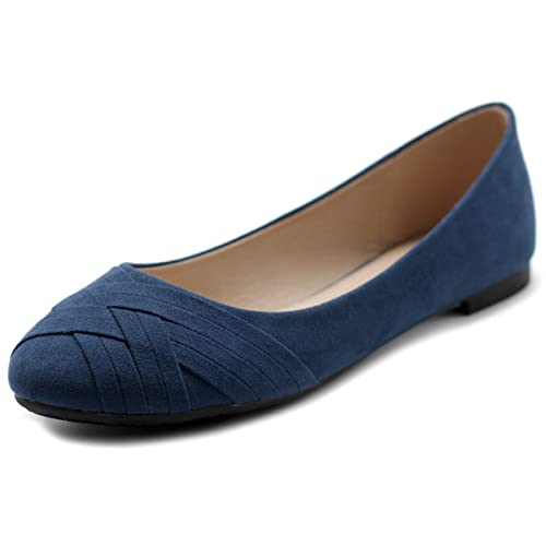 Ollio Womens Ballet Shoe Cute Casual Comfort Flat