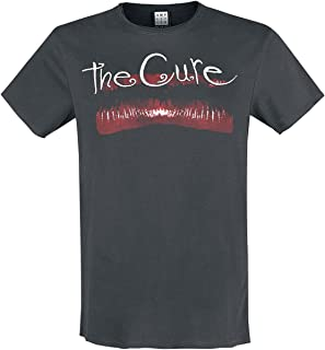 Amplified Clothing The Cure 'Lips' (Charcoal) T-Shirt