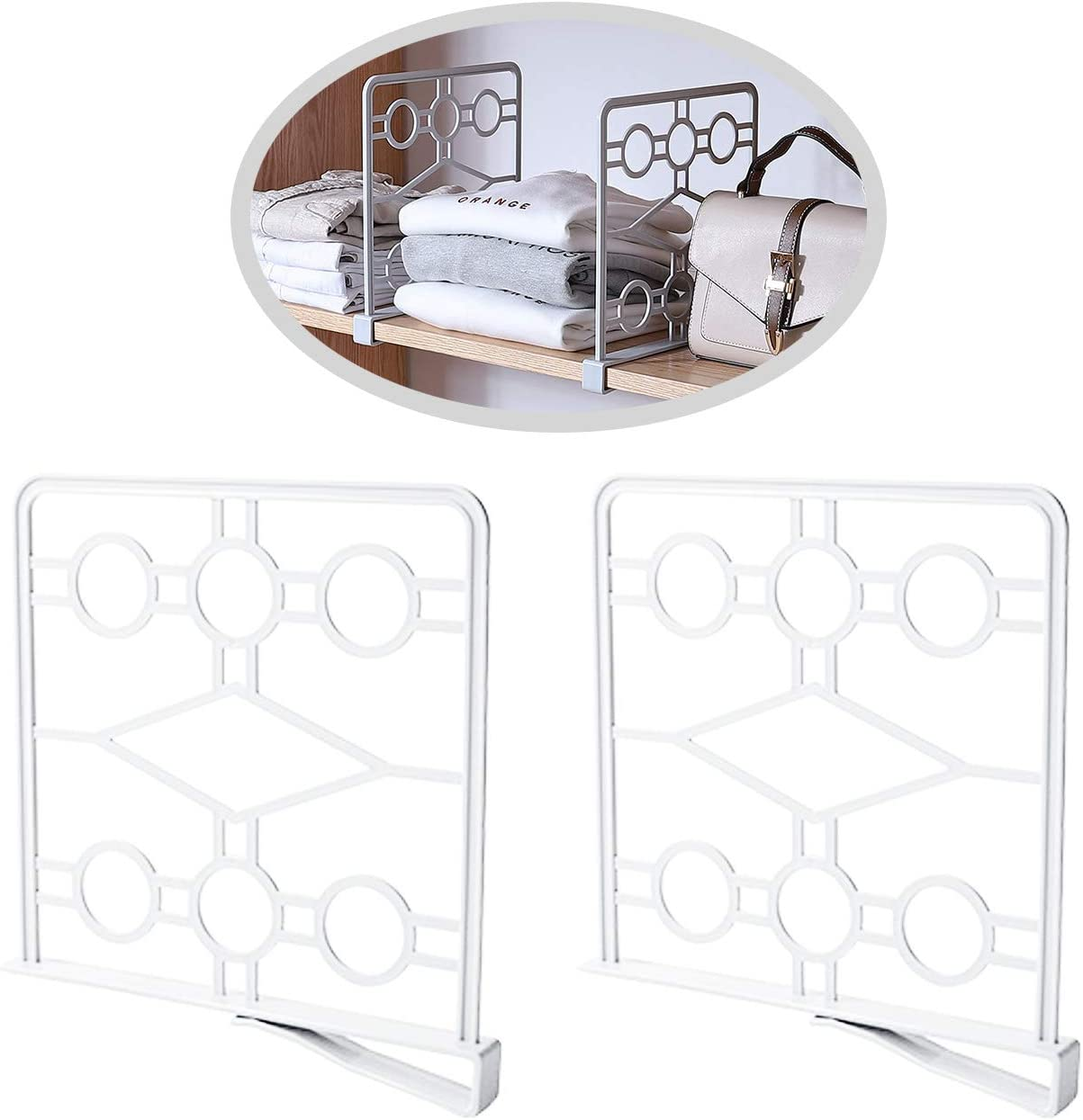 Super-cheap MINIDUO Multifunction Shelf Divider Separator Max 84% OFF and for Or Storage