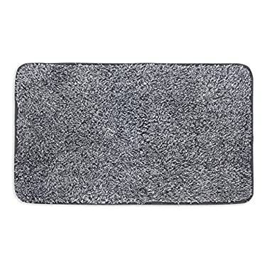 Mud Trap Original Domani Super Absorbent Indoor Floor Mat 18  x 30  Black/Grey Cotton and Microfiber Non-Slip base