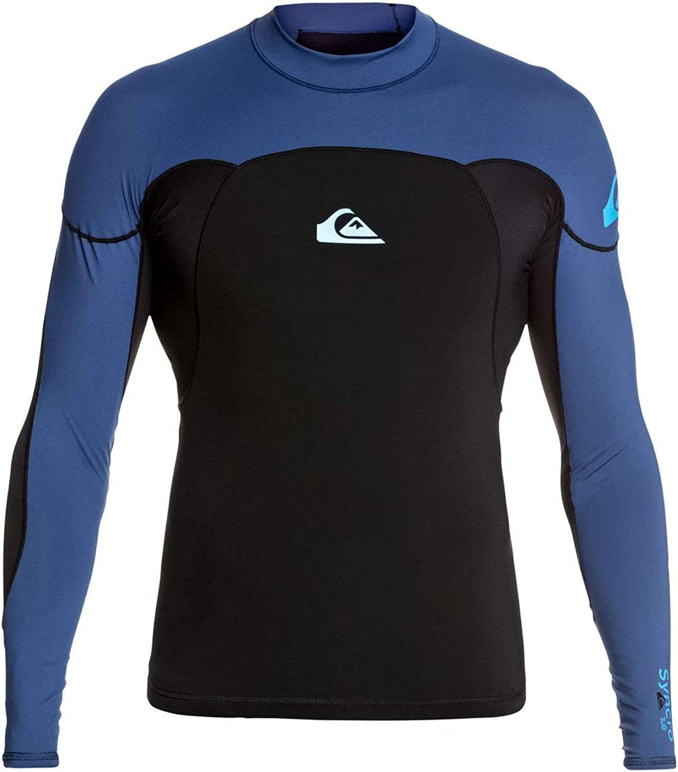 Quiksilver Mens Syncro 1mm Neoshirt Black L Lycra? - Blue Mail order outlet Iodine