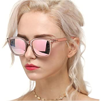 Fit for Outdoor Driving,Fishing Fashion Sunglasses for Women Ski Vacation 100/% UVA//UVB Protection Mirrored Lens