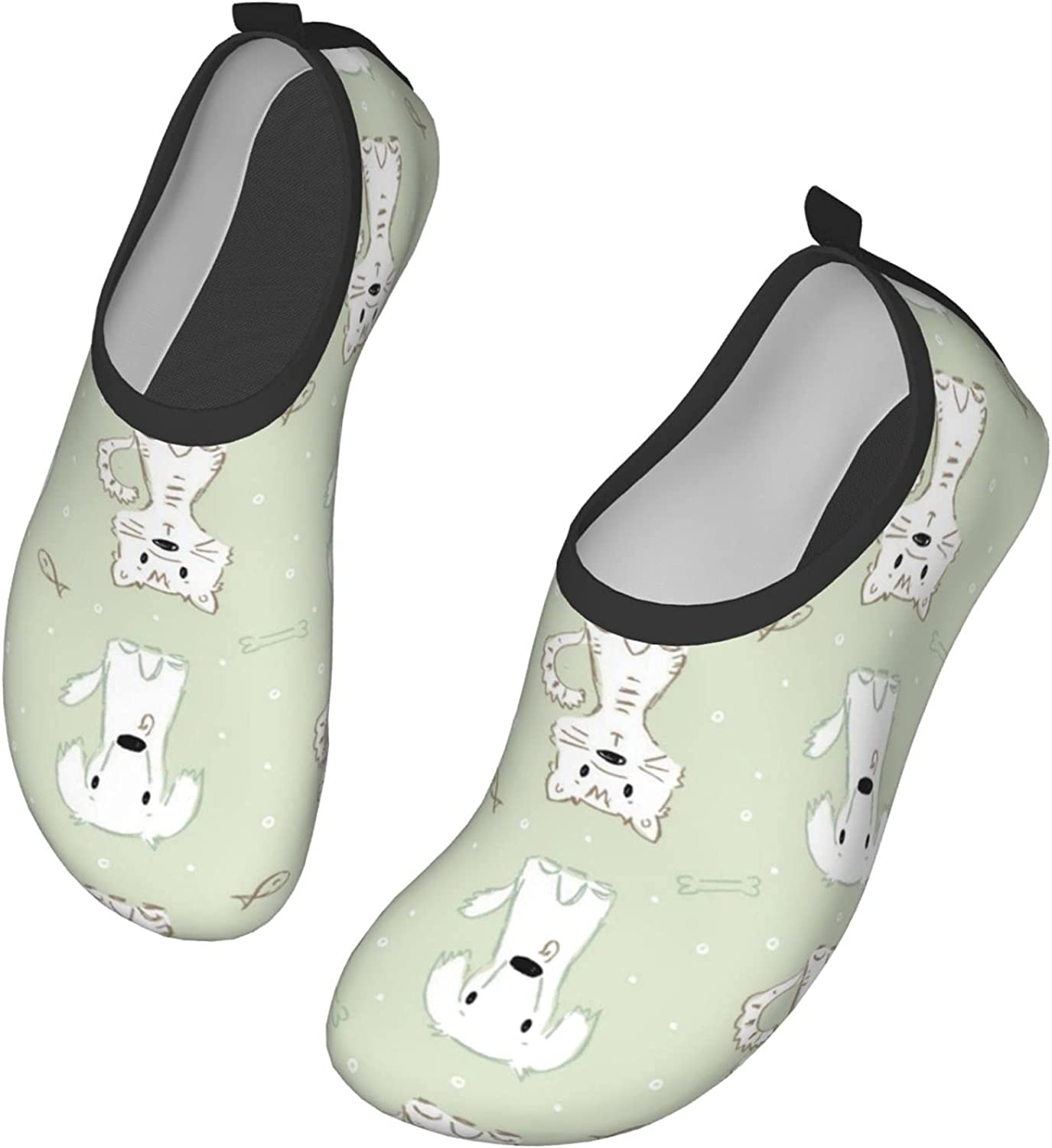 Cute Dogs and Cats and Pet Food Water Shoes Barefoot Skin Shoes for Run Dive Surf Swim Beach Yoga Quick-Dry Barefoot Shoes