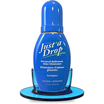 JUST A DROP - Before-You-Go Toilet Odor Eliminator – Truly Incognito Light Scent (0.5 fl. oz. with Toilet-top Stand)