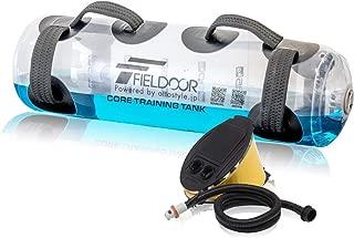 FIELDOOR コアトレーニングタンク (6グリップ搭載) コアトレーニングボール プロトレーナー 塙翔太監修 フットポンプ付き 目盛り付きで簡単重量調節