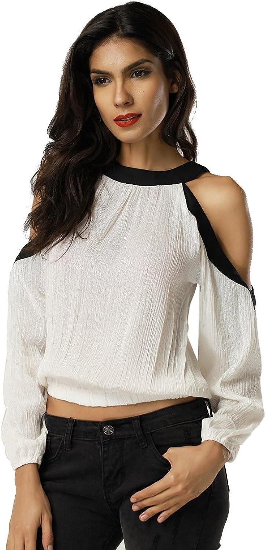 Clarisbelle Women Contrast color Off shoulder Blouse