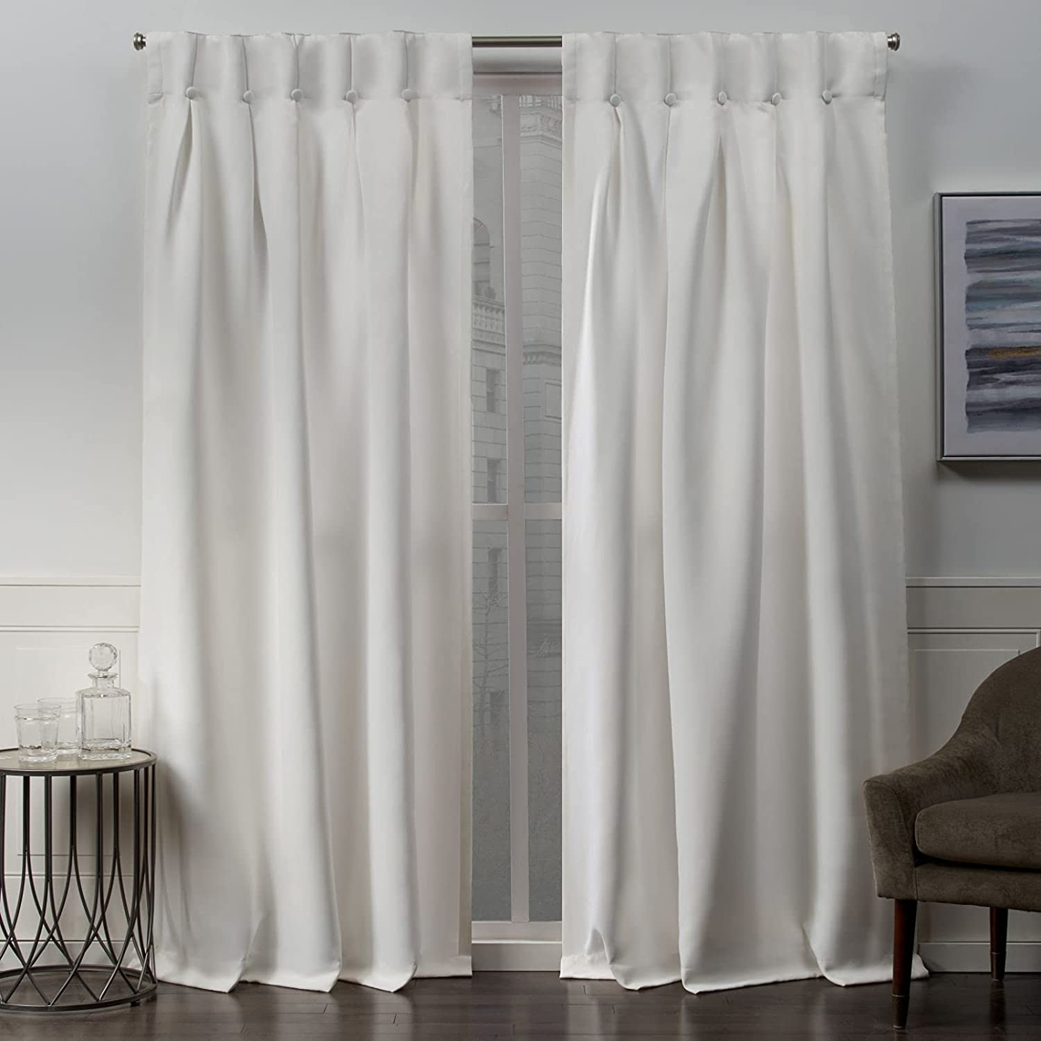 Exclusive Home New products world's highest quality popular Curtains EH8367-01 2-96B Bu Manufacturer OFFicial shop Sateen Blackout Woven