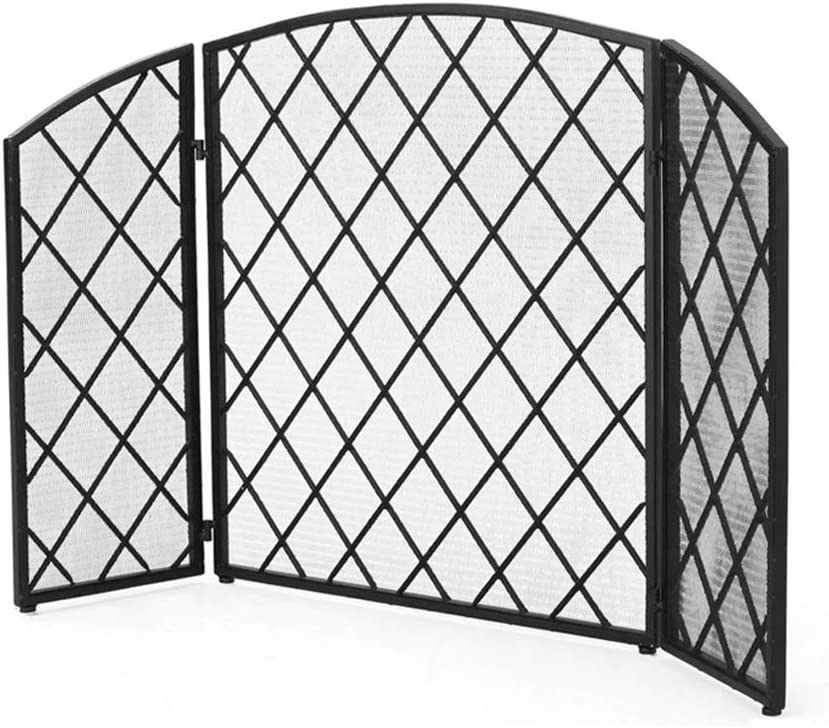 Spasm price BBGS 3 shopping Panel Folding Fire Place Screen Guard Flame Spark Gu