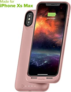 mophie Juice Pack Air - MFI Certified - Wireless Charging - Protective Battery Pack Case for Apple iPhone Xs Max - Rose Gold