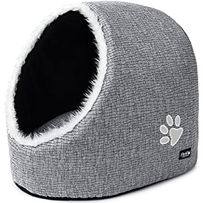 Dog & Cat Bed Cave by PetPäl | Cosy Igloo House for Large Cats, Kittens, Small Dogs | Cuddly Sleeping Place for Your Pet