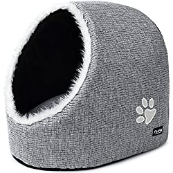 Cave dog/cat grey bed with fur insides