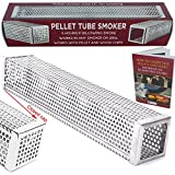 "Kaduf Pellet Tube Smoker 12"" - Up to 5 Hours Smoking - Add to Your Grill or Smoker for Extra Smoke..."