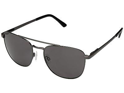 SunCloud Polarized Optics Fairlane (Matte Gunmetal/Polarized Gray Lens) Athletic Performance Sport Sunglasses