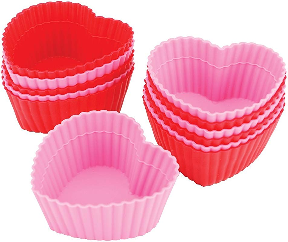 Wilton Heart Silicone Baking Cups 12 Count